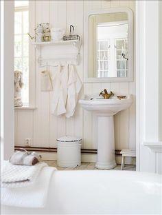 ideen für badezimmer im shabby style-romantische gardinen mit, Hause ideen