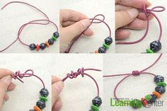 make sliding knots