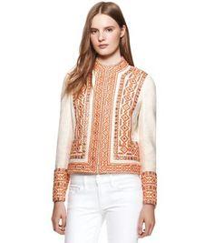 Ava Jacket | Womens Jackets & Outerwear | ToryBurch.com