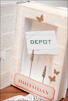 "Gift Card ""Book""  be more creative: The project - * Tutorial *"