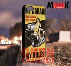 My Garage my rules  iPhone 4/4s/5/5s/5c Case  by mohunkstudio, $15.00