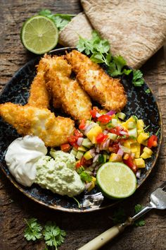 Mango Salat, Fish Friday, Cod Recipes, Cobb Salad, Nom Nom, Food And Drink, Lunch, Baking, Dinner