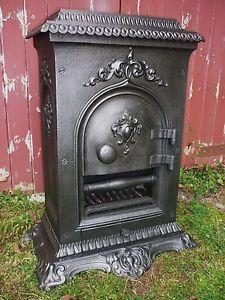 1851-Victorian-cast-iron-parlour-stove-range-French-Godin-pot-belly-queenie Pizza Ovens, Fire Places, Parlour, Stoves, Cob, Cast Iron, Building A House, Victorian, Range