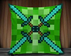 diamond  minecraft pillow cover pillow cases throw pillow cover square pillow