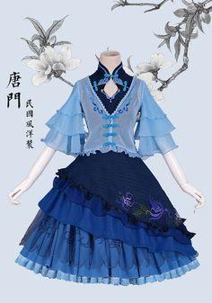 【三分妄想】新品 剑网三 中华风 原创洋装 连衣裙 唐门 日常COS-淘宝网全球站