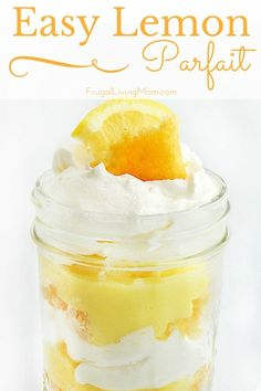 Need a yummy and easy dessert? How about my Easy Lemon Parfaits? The lemon flavor is great for spring, but most any flavor pudding would be great, so use what you have on hand.