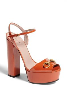 Gucci 'Claudie' Platform Sandal - I feel like these would look super cute on