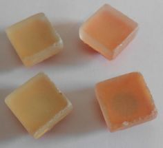 Save 20% on $20 or more through 12/14/14 - Use code HOLIDAY20  Peach Beach glass sea glass style tile magnets by midwooddesign