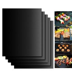 2PCS Silicone Baking Mat BBQ Mat Black Reusable Nonstick Sheet Oven Tray Non-stick anti hot OutDoor Cooking Tool 3B