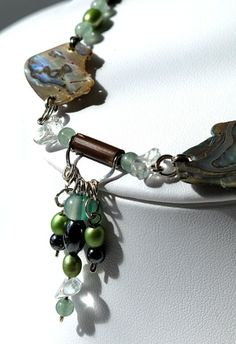 Ethnic Chic Necklace | I design unique handmade limited edition jewelry | A touch of sea necklace by Fleur du Luxe