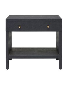 This nightstand is covered in faux Belgian linen providing instant texture and sheen. You can't beat the build with it's open back and raised legs, it does a stellar job of making modern chic. Grown Up Bedroom, Home Bedroom, Master Bedroom, Bedrooms, Bedroom Furniture, Home Entrance Decor, Home Decor, Black Nightstand, Nightstand Ideas
