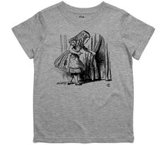 El Cheapo Alice in Wonderland - Looking for The Door (Black) Youth Grey Marle T-Shirt