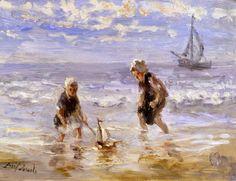 'Kinderen der Zee' van Jozef Israëls - vaste collectie Dordrechts Museum