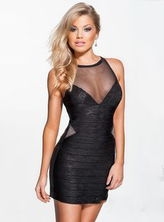 ihomecoming.com SUPPLIES Sexy Jewel Neck Beading Short Sheath Black Homecoming Dress Sexy
