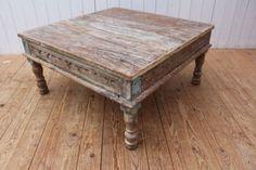 Couchtisch Esstisch Teak Tisch Recycling Alt Holz Bauholz