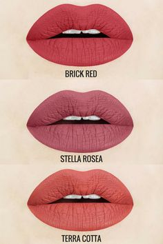 Shop here for the best liquid matte lipsticks! Aromi liquid to matte lipsticks are long-lasting, vegan, cruelty-free, and are available in 32 vibrant matte lipstick shades. Pink Lipstick Shades, Red Liquid Lipstick, Best Lipstick Color, Matte Lip Color, Lipstick Colors, Lip Colors, Best Matte Lipstick, Rose Lipstick, Mac Color