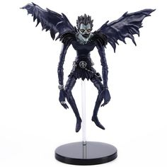 This Death Note action figure of Ryuuku has great detail and is made of high quality PVC. Perfect for collectors and death note fans! Theme: Death Note - Ryuuku Dimensions: 7 inch (18cm) Material: PVC