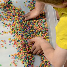 Beautiful, vibrant rainbow oats are a perfect sensory material for kids. Find out how easy they are to make.