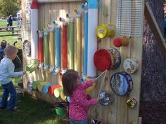 Fantastic musical instrument wall idea from Australia! This would be a great inside or outside addition to all classrooms!