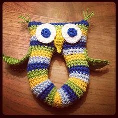 Baby Owl Rattle ~ made by VanSjoukje© ~ crochet ~ haken ~ baby ~ rammelaar