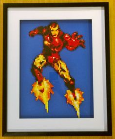 Iron Man hama beads by PIXELPLAYERS