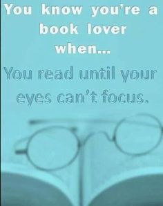 You know you're a a #booklover ...