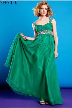 3855-EMERALD - Long Dresses