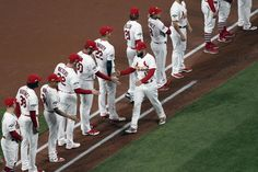 Photos: Cardinals held to one hit in loss to Nationals in Game 1 of NLCS Identity Design, Visual Identity, Brand Identity, Brochure Design, Cardinals Players, Cardinals Baseball, Busch Stadium, David Carson, Japanese Graphic Design
