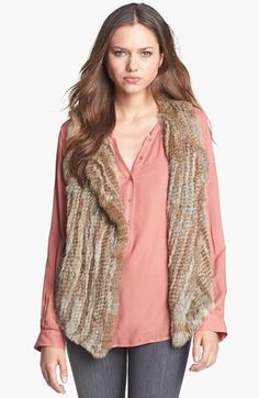 Joie Genuine Rabbit Fur Vest available at #Nordstrom