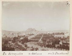 L. Heldring   Gezicht op de Akropolis in Athene, Griekenland, L. Heldring, 1898  