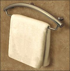 Towel Bar and Grab Bar Combo for Bathrooms and Showers, universal design :: aging in place Ada Bathroom, Handicap Bathroom, Bathroom Renos, Bathroom Ideas, Master Bathroom, Bathroom Renovations, Bathroom Inspiration, Bathroom Safety, Small Bathrooms