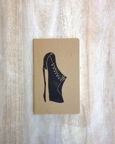 Hand printed notebook journal for him or dude by RetroModernArt, $15.00 #linocut #gift #etsy #printmaking #forhim #gift #stocking stuffer