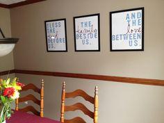 Food, Family, Love prints - digital files, dining room art, 16x20. $10.00, via Etsy.