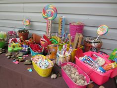 Retro 50th Birthday Party  Candy Buffet