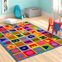 You'll love the Boswell Numbers and Letters Kids Area Rug at Wayfair - Great Deals on all Rugs products with Free Shipping on most stuff, even the big stuff.