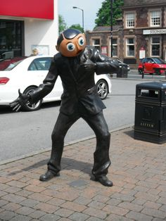 Timperley village - Frank Sidebottom is one of the strangest comedians ever to emerge from Greater Manchester and Cheshire. He was the creation of punk rocker, Chris Sievey, and. Comedians, Manchester, Articles, Punk, Hero, Urban, Statue