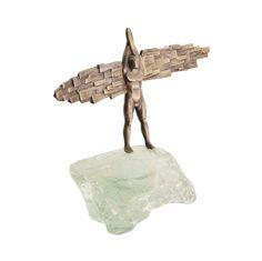 An impressive unique cast bronze sculpture of an Angel. The Angel is standing on a glass stand. Modern Sculpture, Bronze Sculpture, Lion Sculpture, Greek Art, Art Object, Art Studios, All Art, Sculptures, Art Gallery
