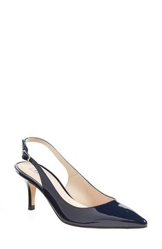Free shipping and returns on L.K. Bennett 'Florita' Slingback Pointy Toe Pump (Women) at Nordstrom.com. A red-carpet classic pump in high-gloss patent leather gets updated with a flirty slingback strap and a graceful pointy toe.