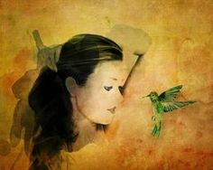 Close Encounter via @terryfleckney #fantasyart #hummingbirds #giftideas