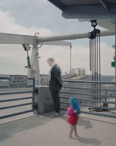 """Johan Rosenmunthe, """"Off II"""", 2010. """"In this project I have downloaded pictures of 'friends' that I only know through the Internet, and given them a new context. The persons are only visible through a digital representation, while the surroundings are as analog as possible."""""""