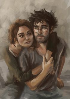 I don't care who they married in canon, Hermione will always be able to read Harry better than anyone else and support him in a way no one else can. Tracked time: Harry & Hermione belong to JKR. Hermione Fan Art, Harry And Hermione, Harry Potter Fan Art, Harry Potter Characters, Hermione Granger, Hogwarts, Saga, Blake Steven, Tarot