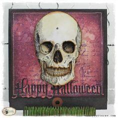 tammy tutterow skull halloween card
