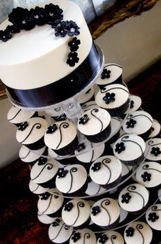 Cute Cupcake wedding cake, I want one :)