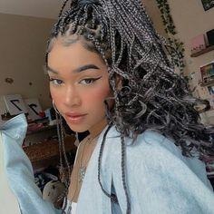 Black Girl Braided Hairstyles, African Braids Hairstyles, Easy Hairstyles, Girl Hairstyles, Straight Hairstyles, Curly Hair Styles, Natural Hair Styles, Hair Cuffs, Box Braids Styling