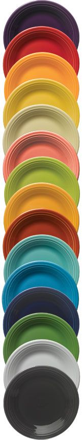 Retired Products Fiesta® Dinnerware  by Homer Laughlin China Co.  ....This chart shows the years of production.
