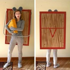Awesome DIY Halloween Costume Ideas for Teen Girls to help you get ready for Halloween. Fun Halloween costume ideas your teenager will love. Costume Halloween, Halloween Costume Contest Winners, Carnaval Costume, Halloween Peeps, Halloween Kostüm, Mouse Costume, Halloween Couples, Group Halloween, Easy Homemade Halloween Costumes