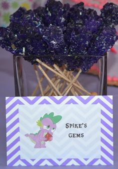 My Little Pony Party - This Calls for a Party - Spike's Gems (rock candy)