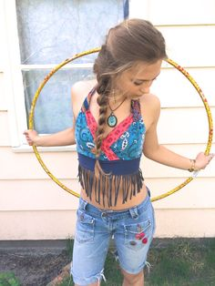 Eco Patchwork Halter top sizeS to L fringe halter by zasra on Etsy, $50.00