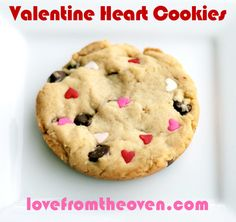 #Valentine's Day Chocolate Chip Heart Cookies by Love From The Oven