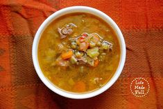 This Hearty Paleo Soup is amazing! Just throw in some veggies, and the flavors of the ham hocks and stew meat will make your mouth scream for more!